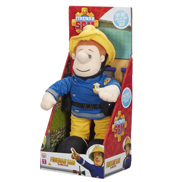 Talking Fireman Sam 12-Inch Soft Toy