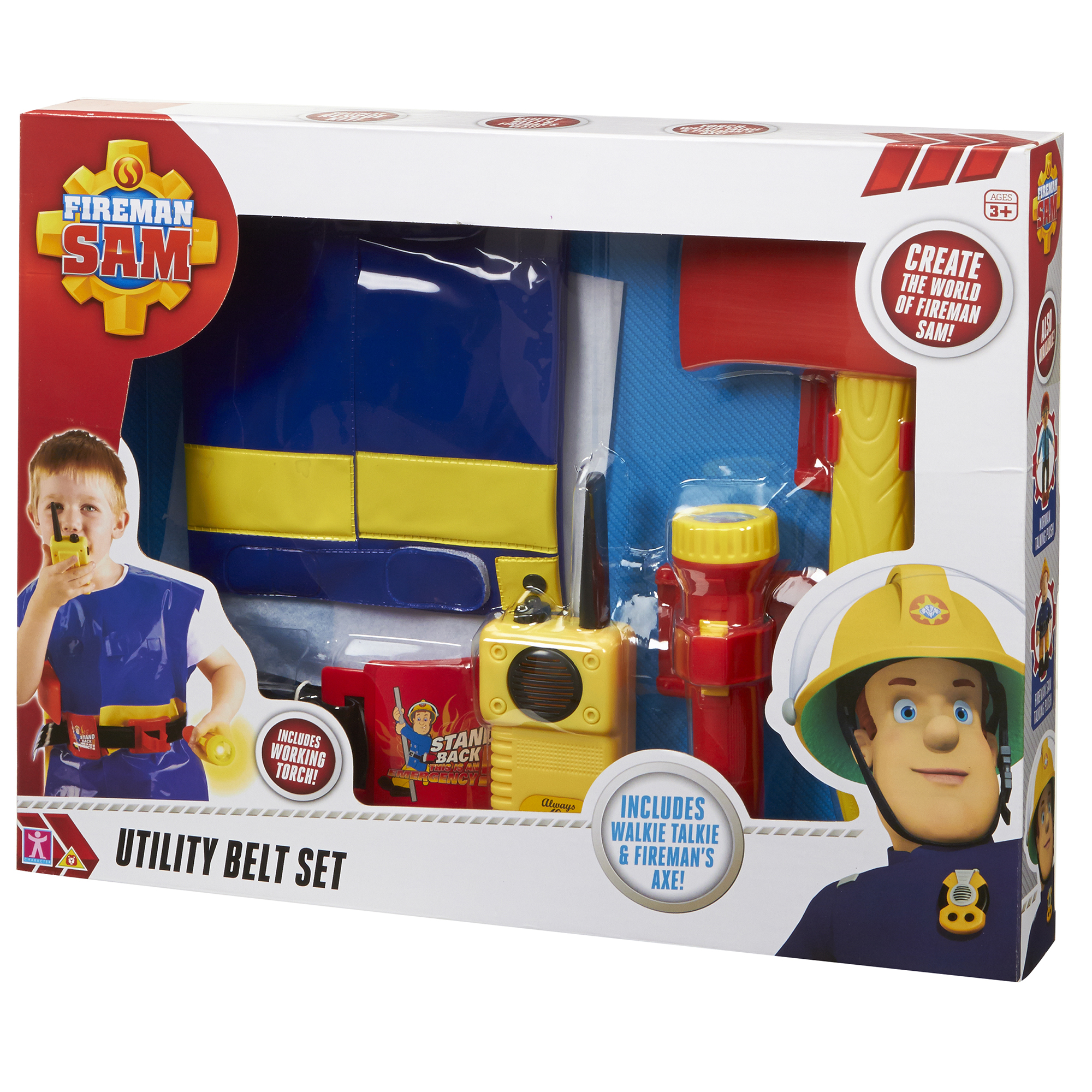 Fireman Sam Utility Belt With Jacket & Accessories