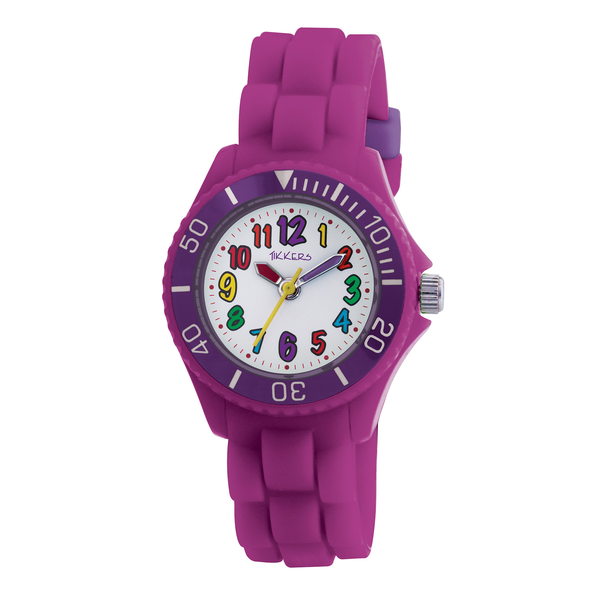 Tikkers Purple Silicon Time Teacher Watch