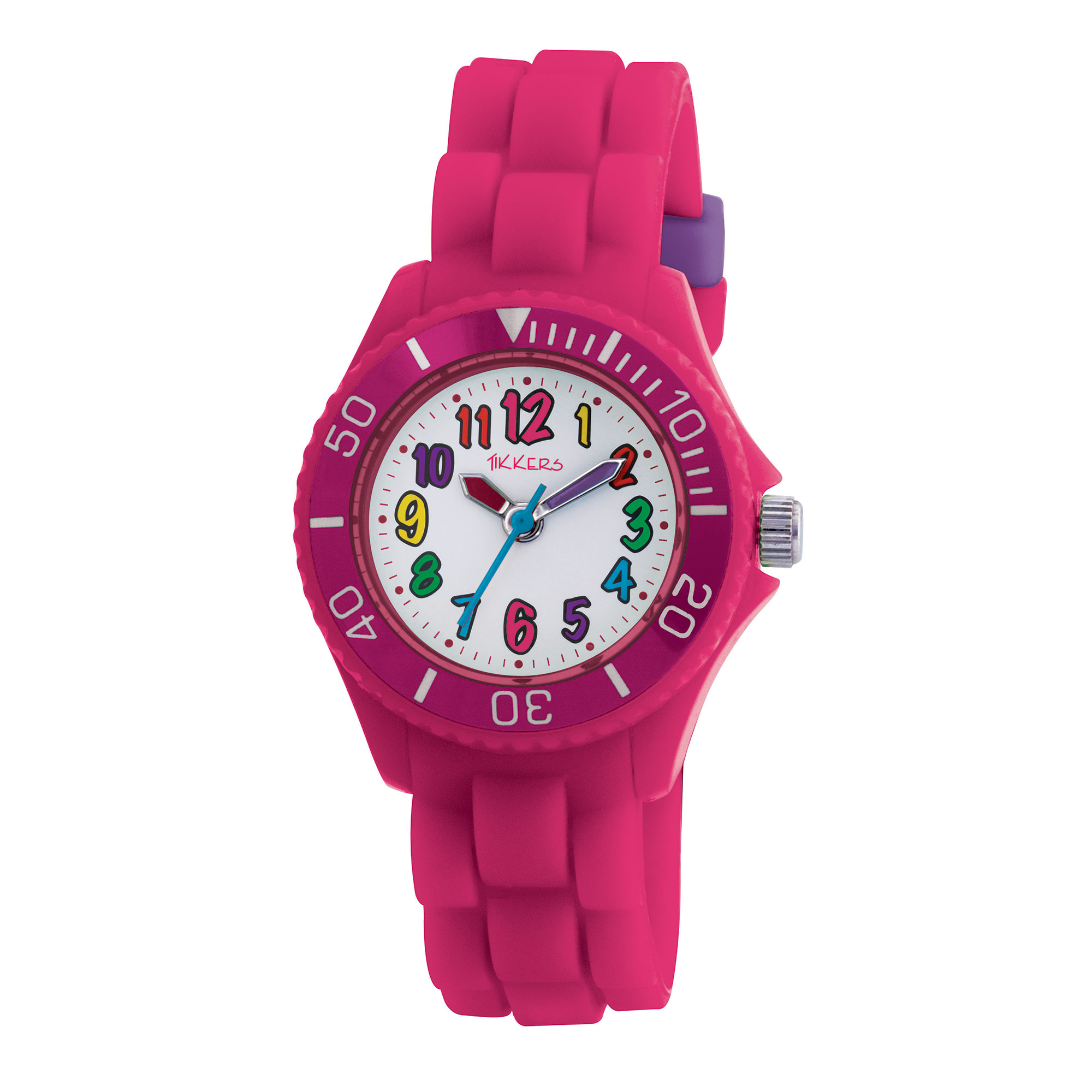 Tikkers Pink Silicon Watch