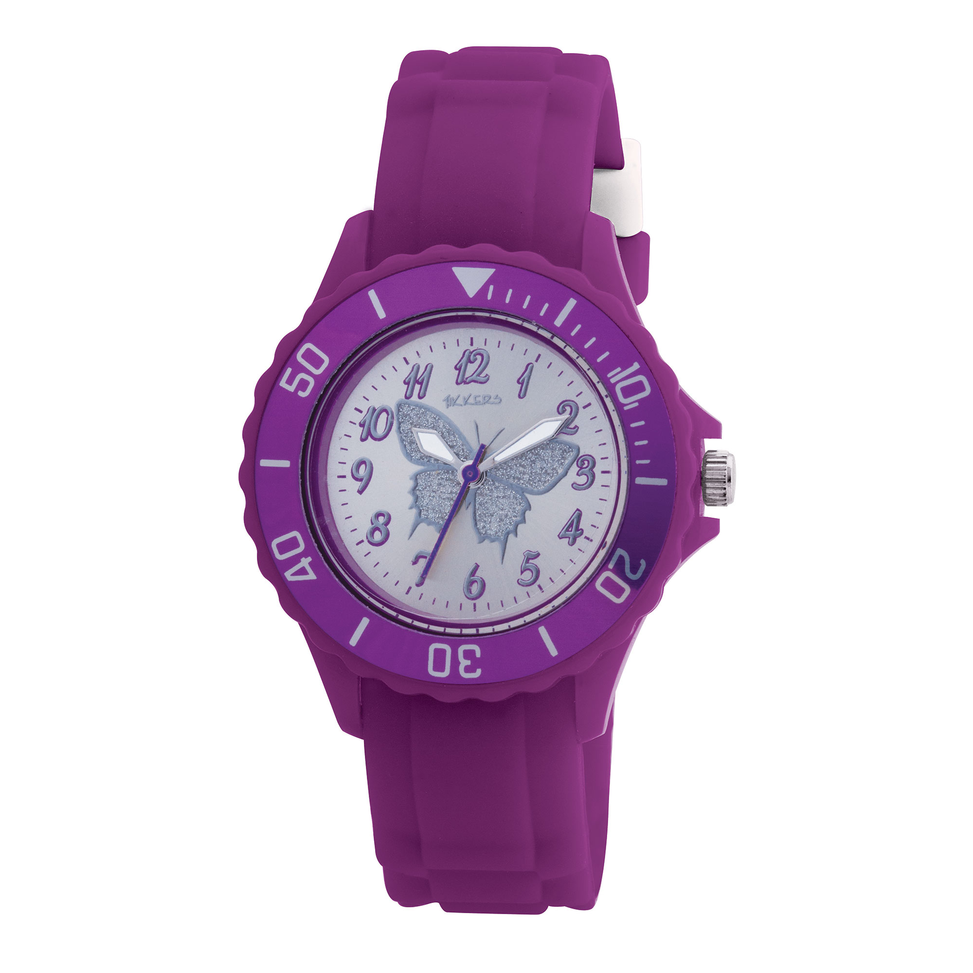 Tikkers Purple Butterfly Watch