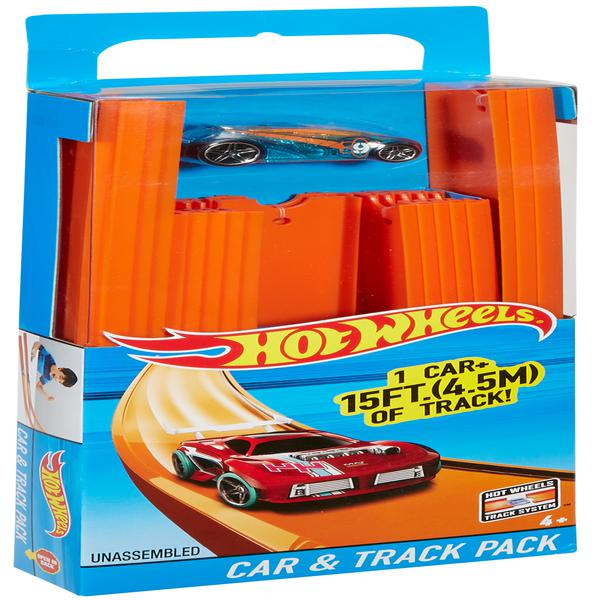 Hot Wheels Track Builder 15' Of Track With Car