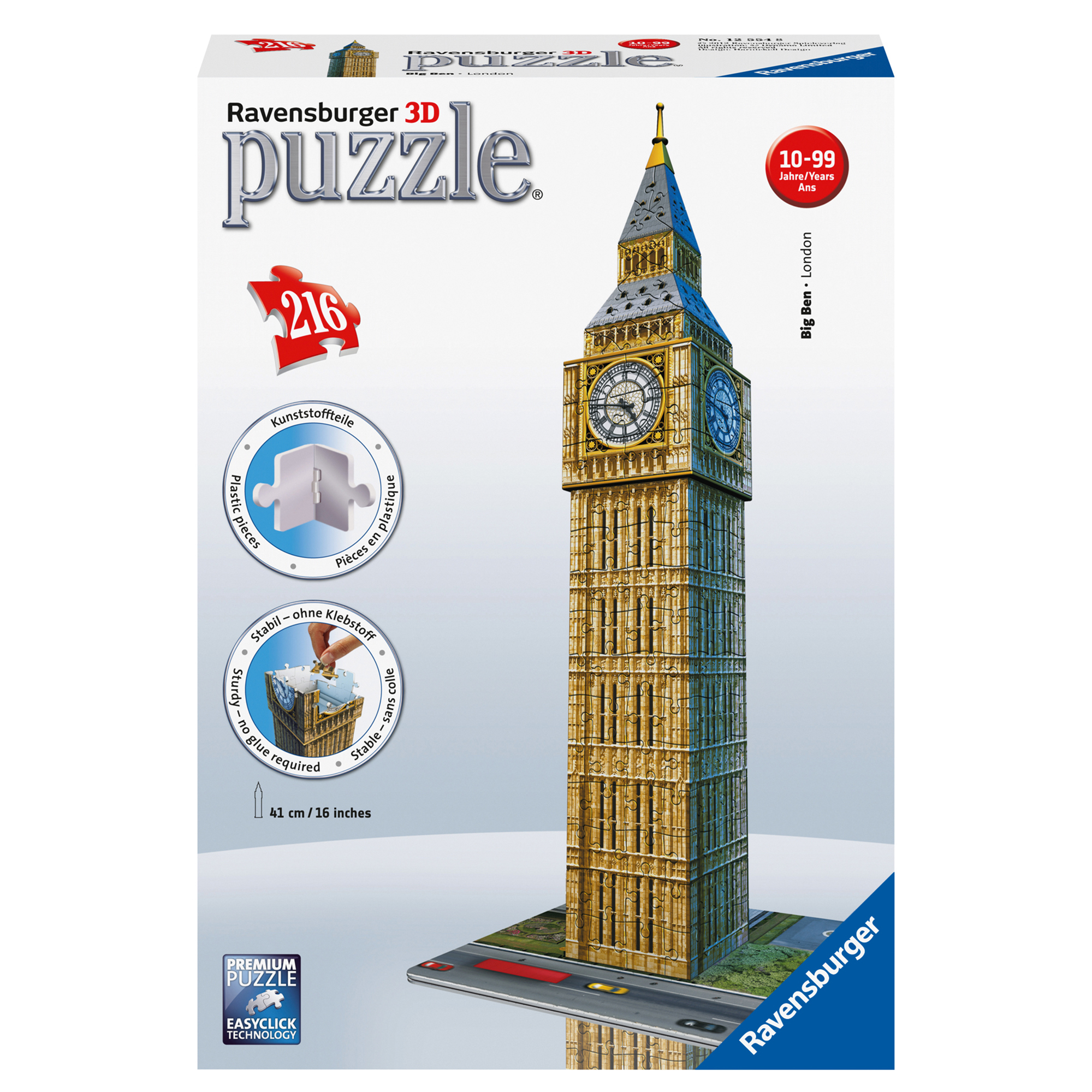 Ravensburger Big Ben Building 216 Piece 3D Puzzle