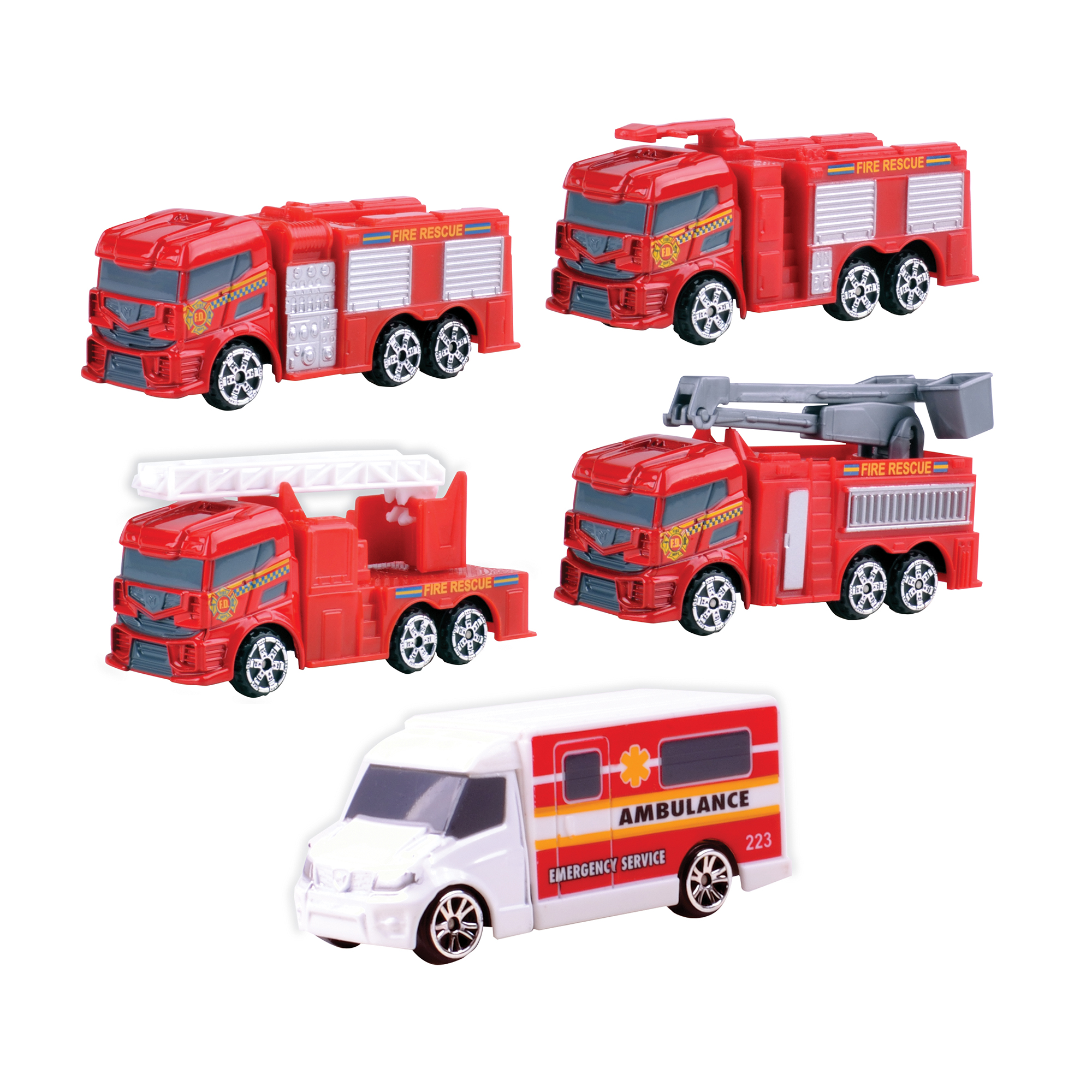 Driving Force 5-Piece Emergency Vehicle Set