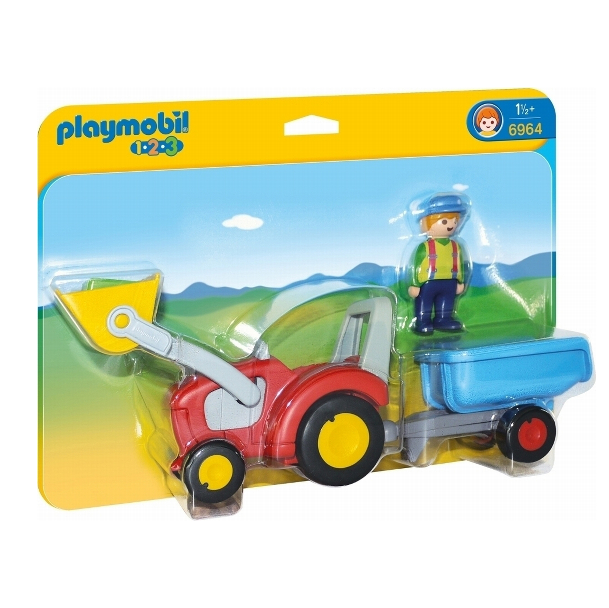 Playmobil 123 Tractor With Trailer 6964