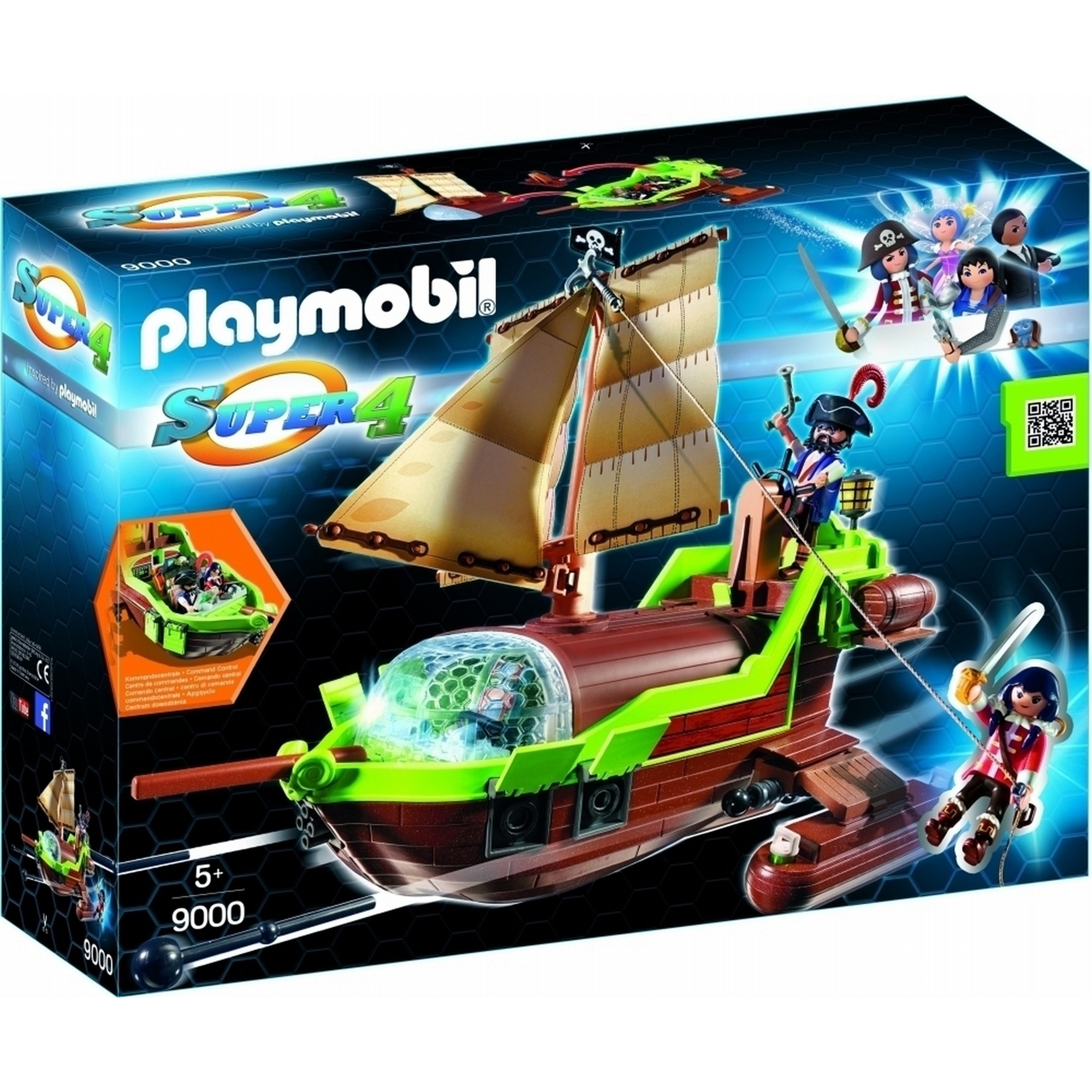 Playmobil Super 4 Floating Pirate Chameleon 9000