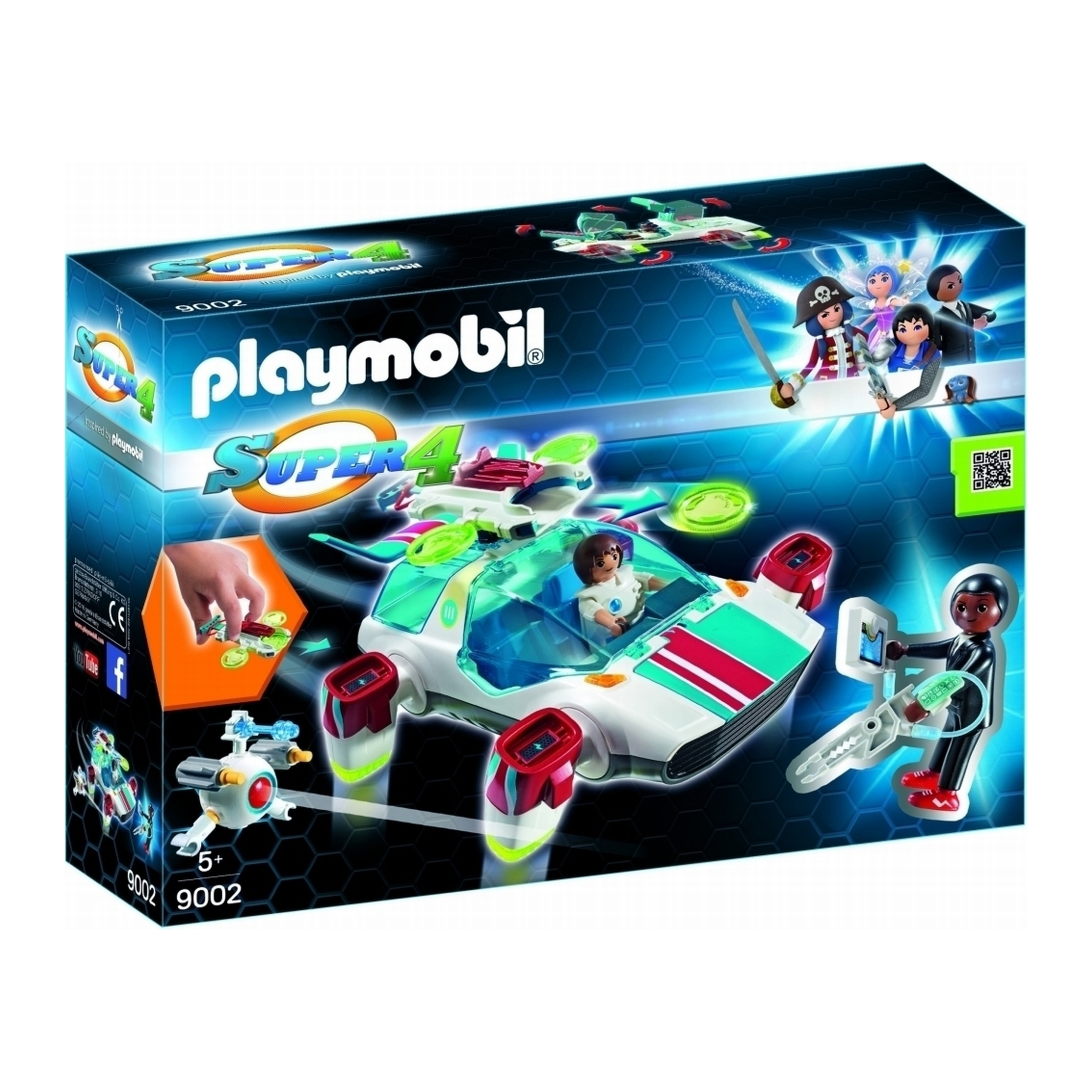 Playmobil Super 4 FulguriX With Agent Gene 9002