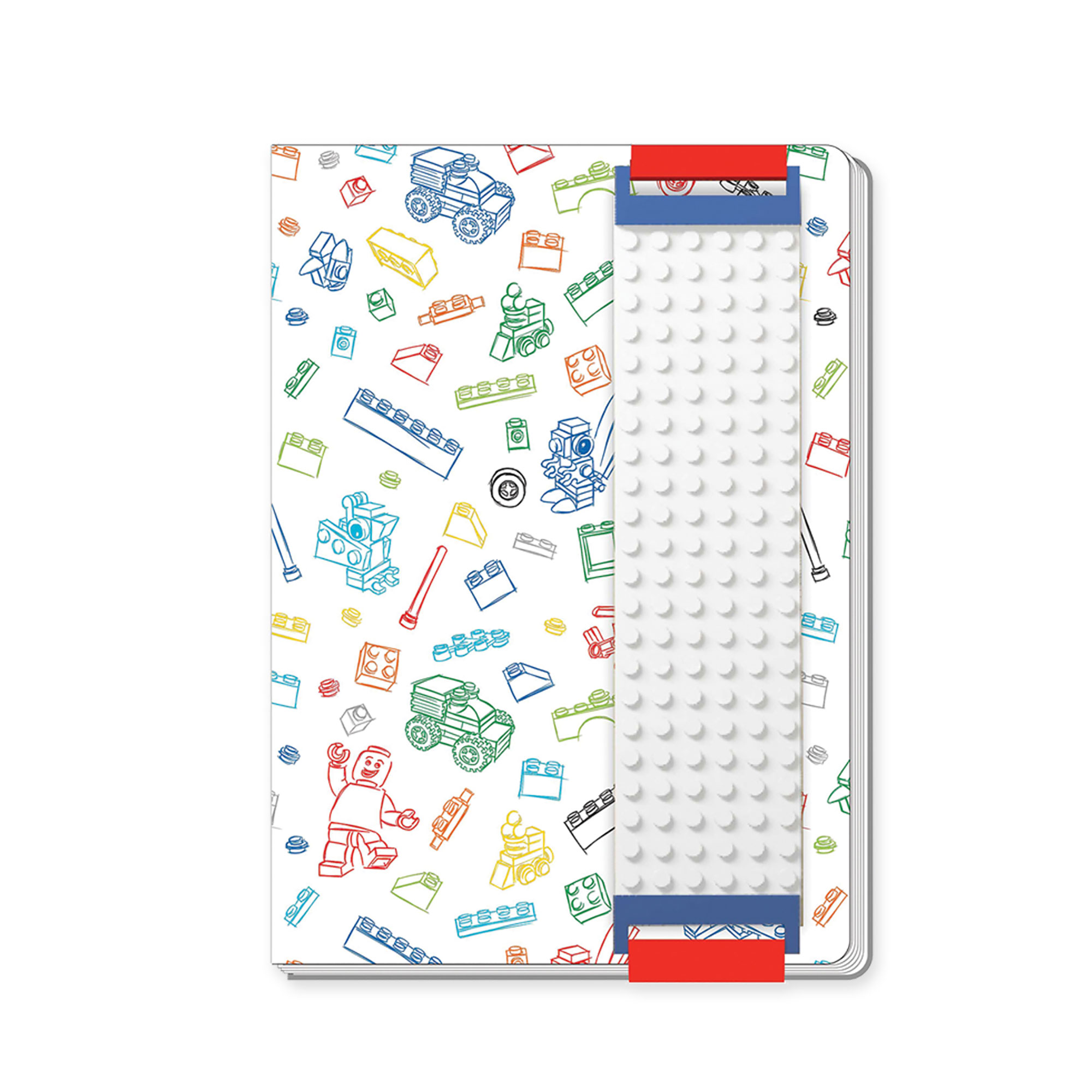 LEGO White Diary With Binder Sleeve