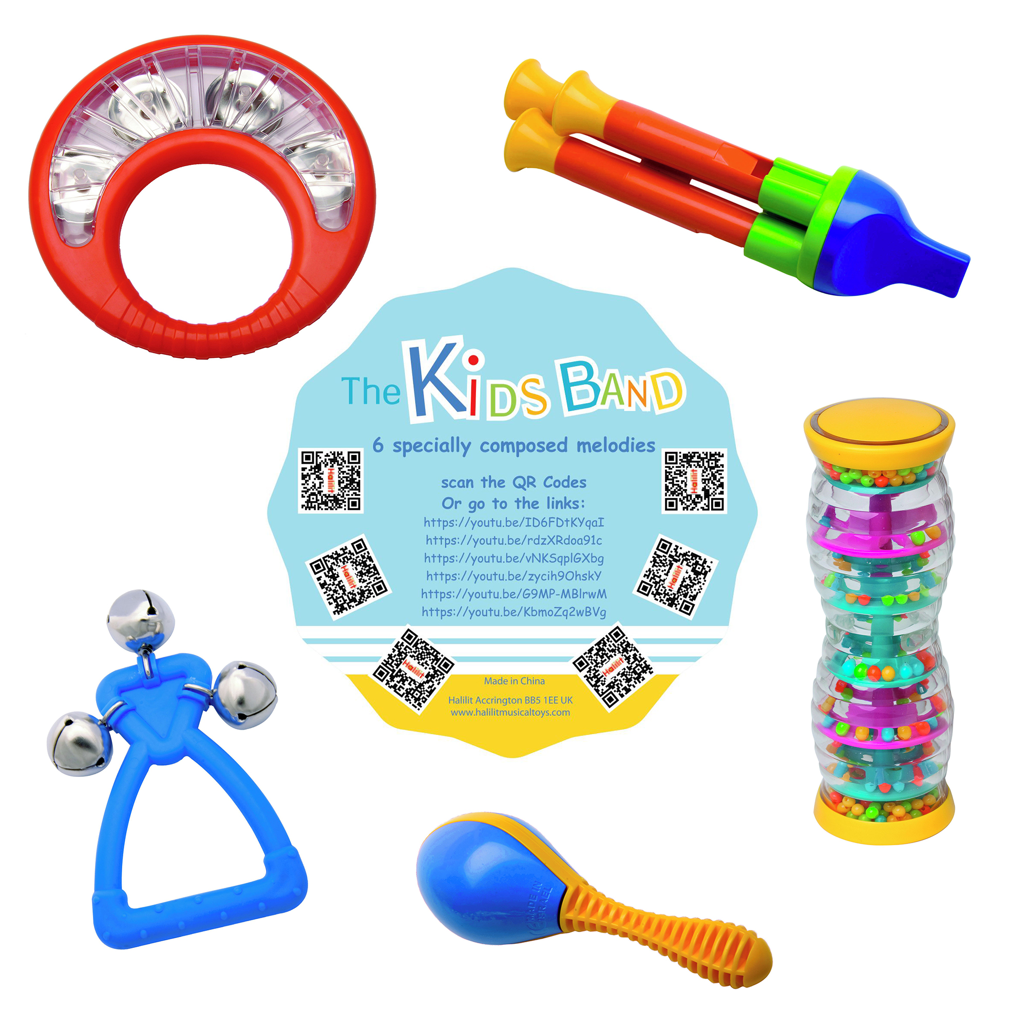 Halilit 6-Piece Kids Band Set