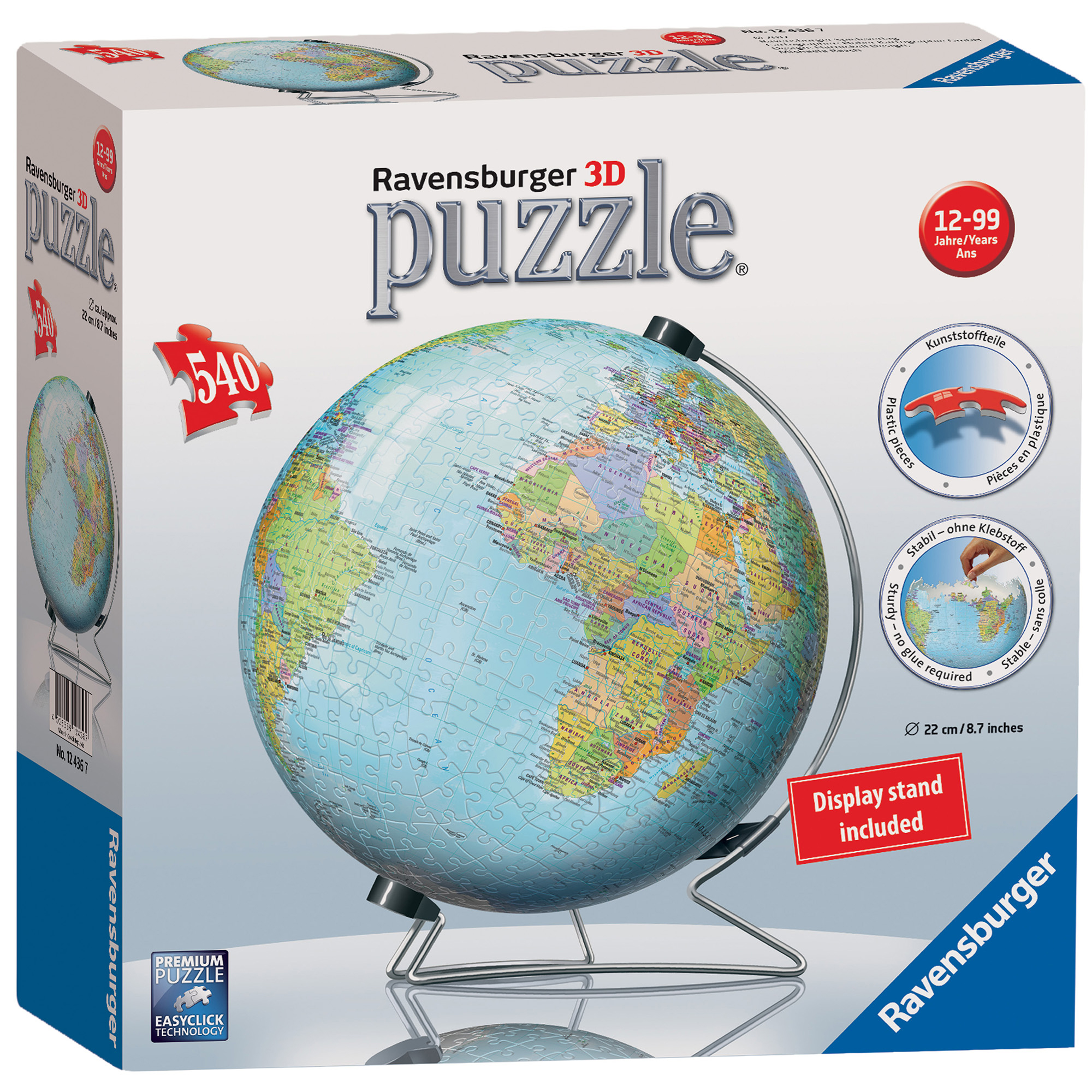 Ravensburger The World Globe 540 Piece 3D Puzzle
