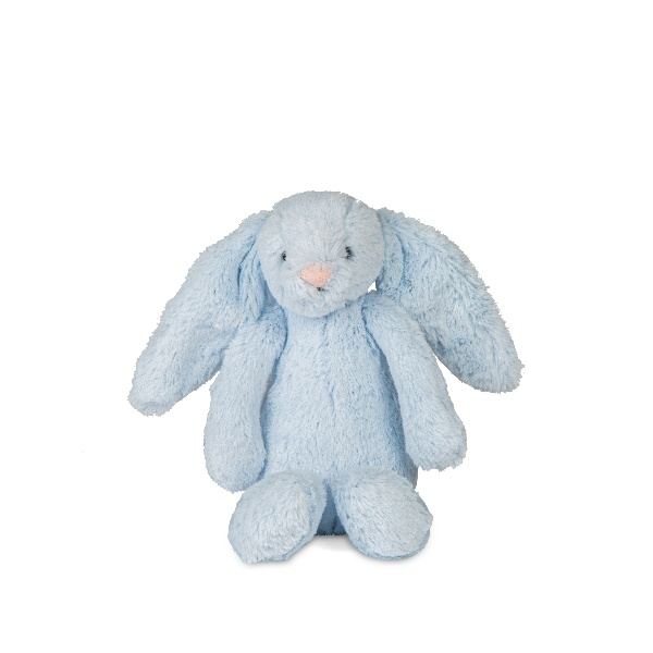 Jellycat Bashful Blue Bunny Rattle Soft Toy