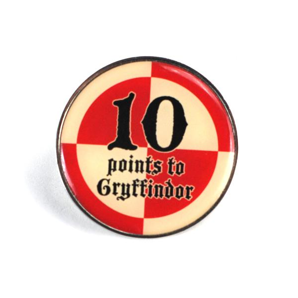 Harry Potter 10 Points To Gryffindor Enamel Badge