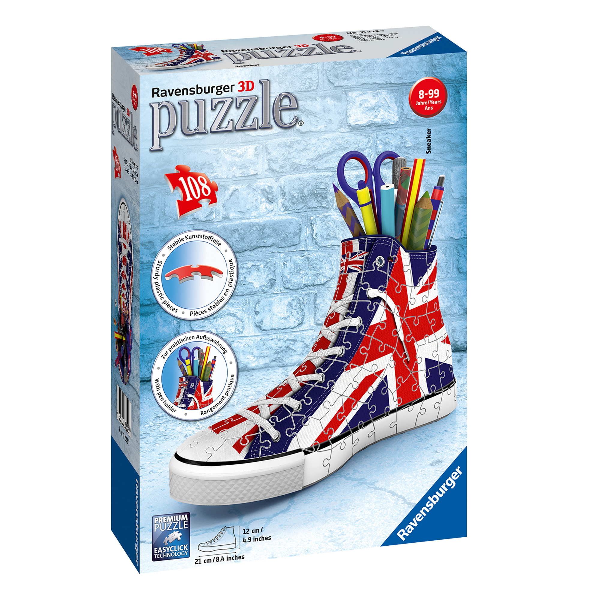 Ravensburger British Flag Sneakers 108 Piece 3D Puzzle