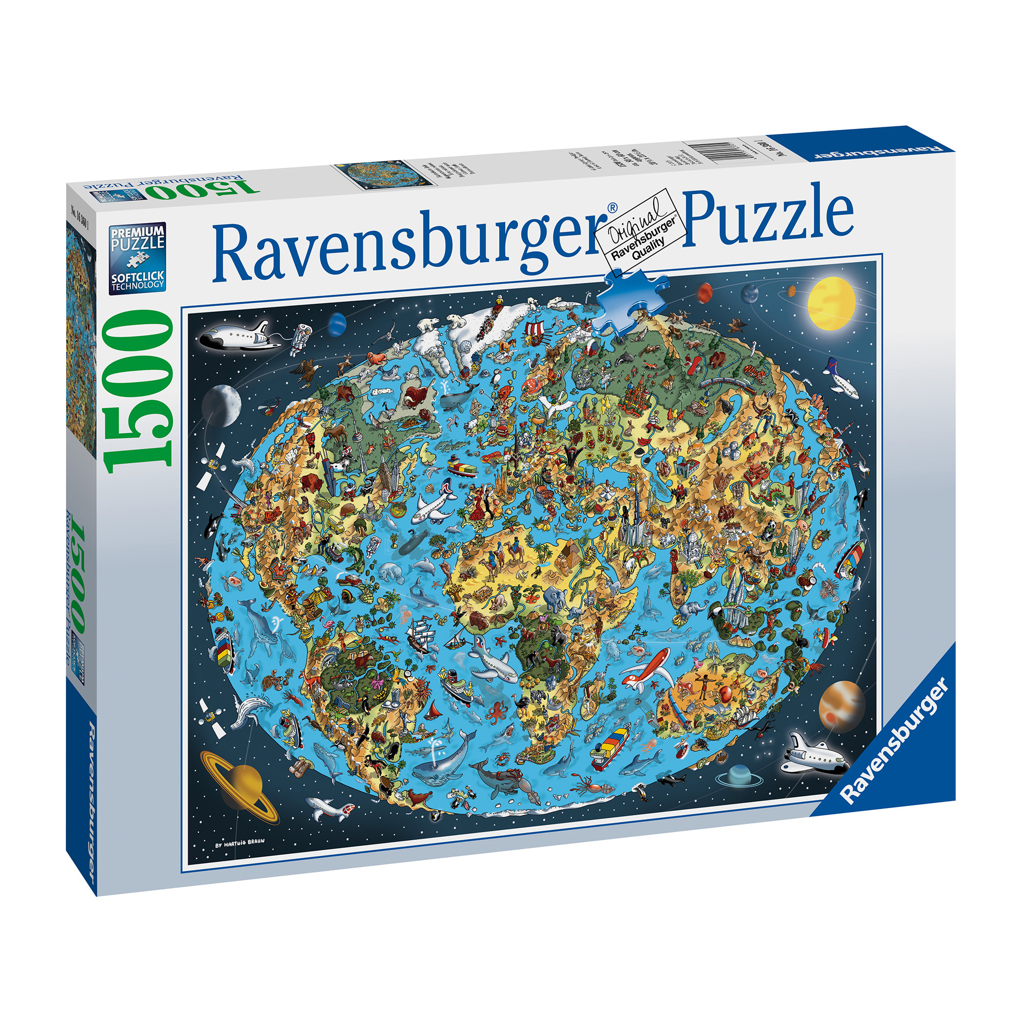 Ravensburger Cartoon Earth 1500 Piece Puzzle