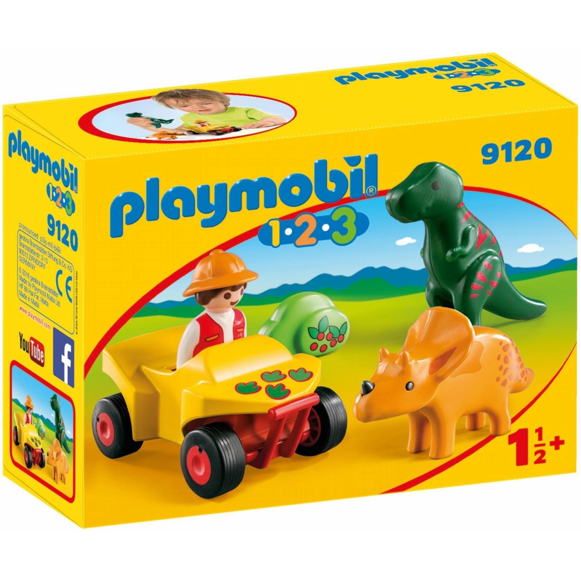 Playmobil 123 Explorer With Dinos 9120