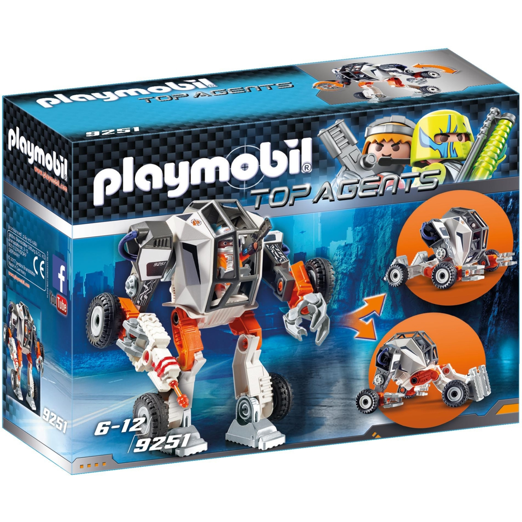 Playmobil Top Agents Agent P Transforming Robot 9251