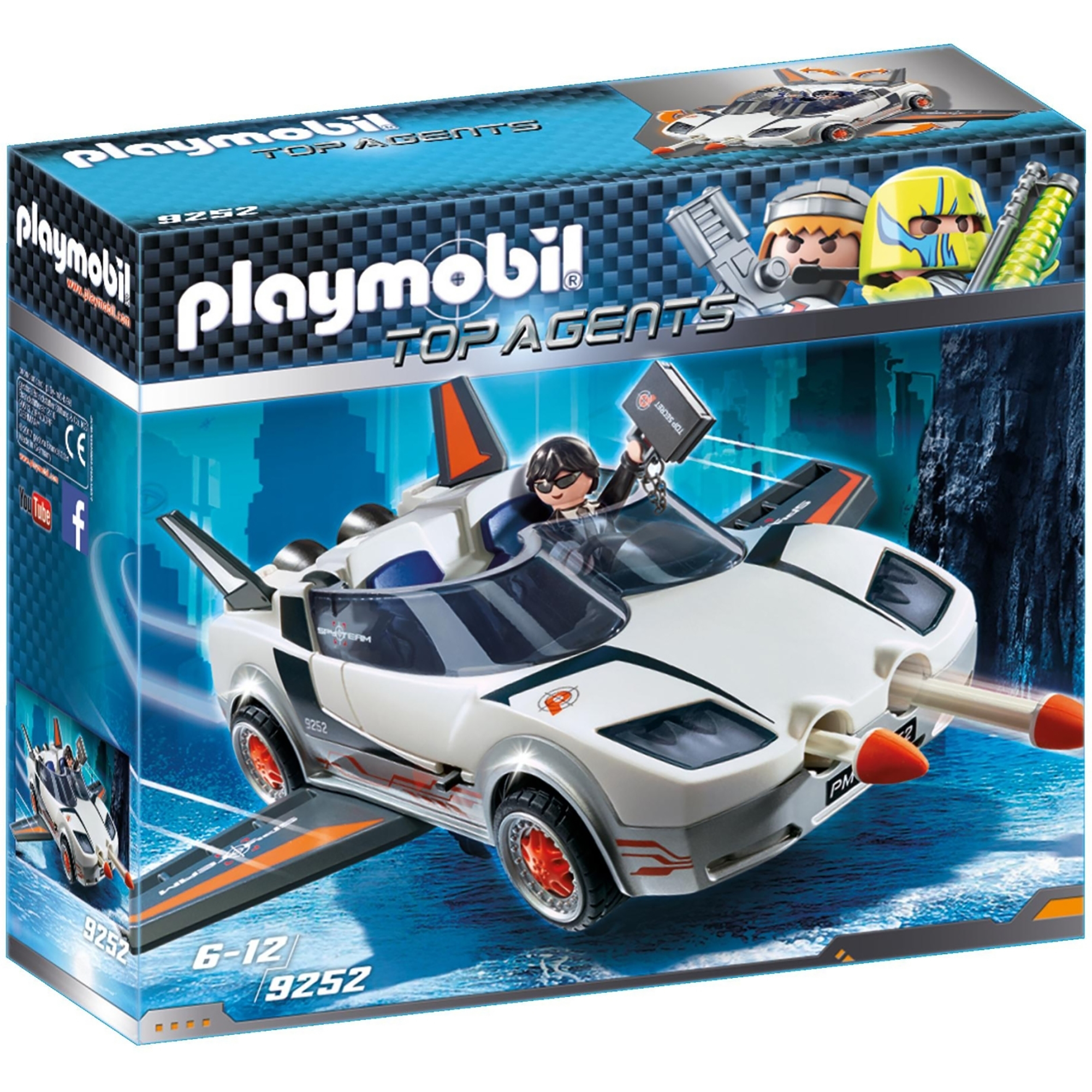 Playmobil Top Agents Agent P With Firing Weapons 9252