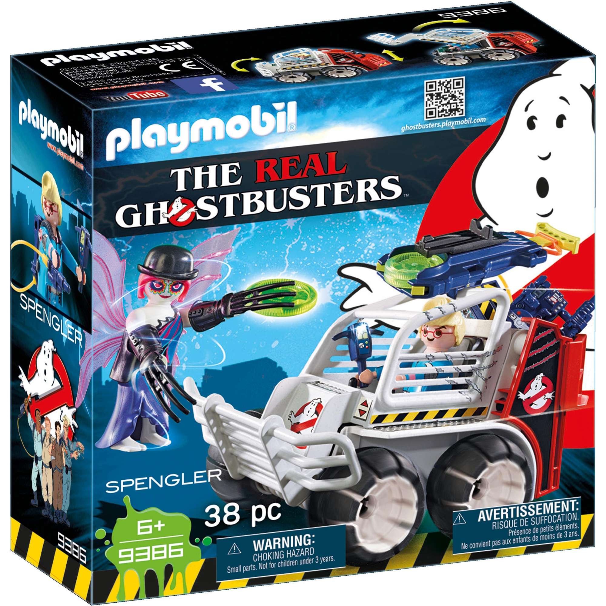 Playmobil Ghostbusters Spengler With Cage Vehicle 9386