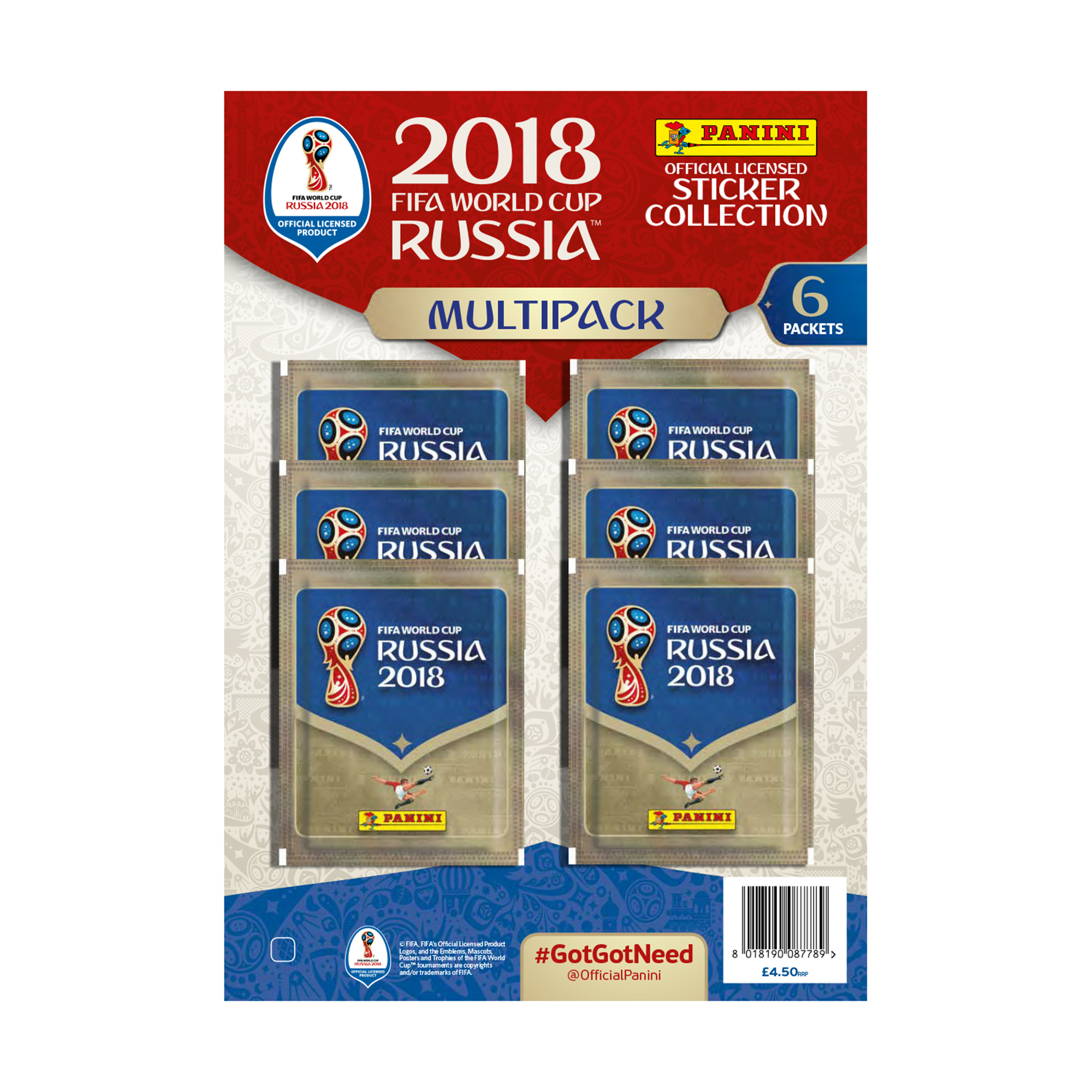 FIFA World Cup Russia 2018 Sticker Collection Multipack