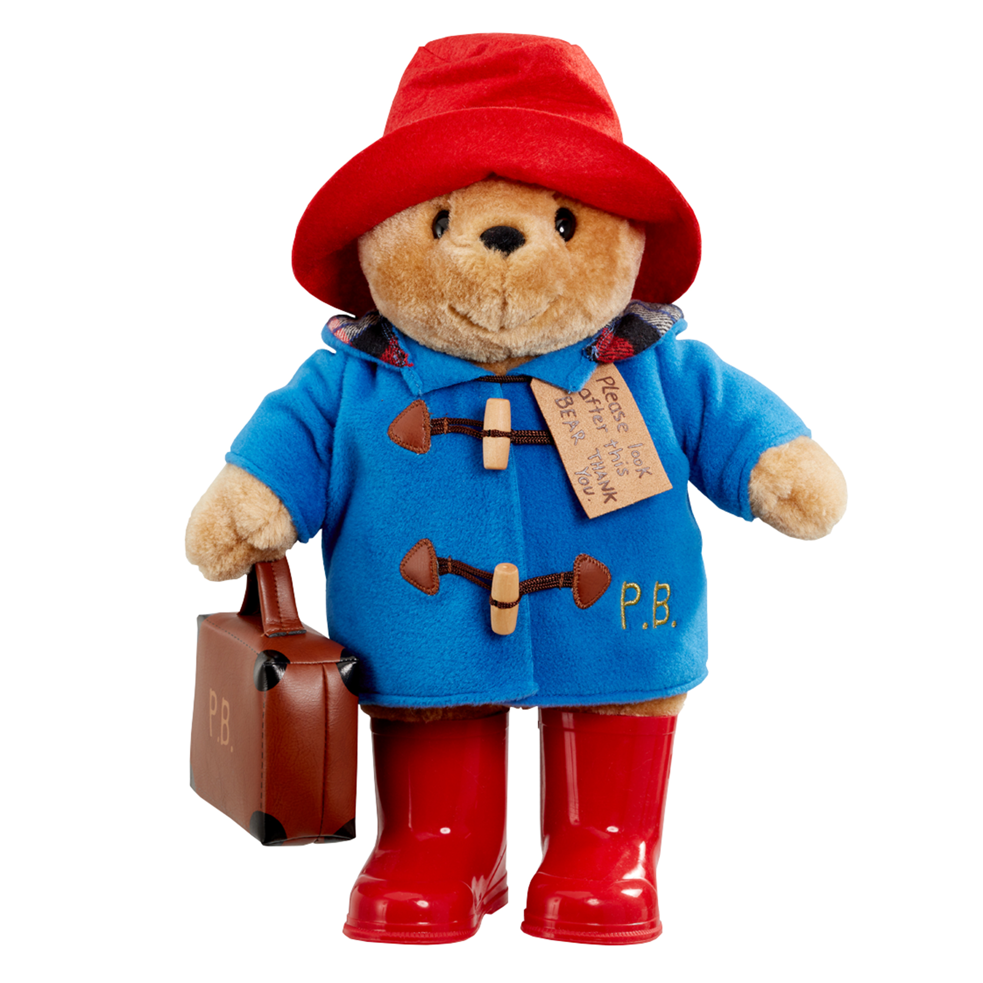 Paddington Bear Large Soft Toy with Boots & Suitcase