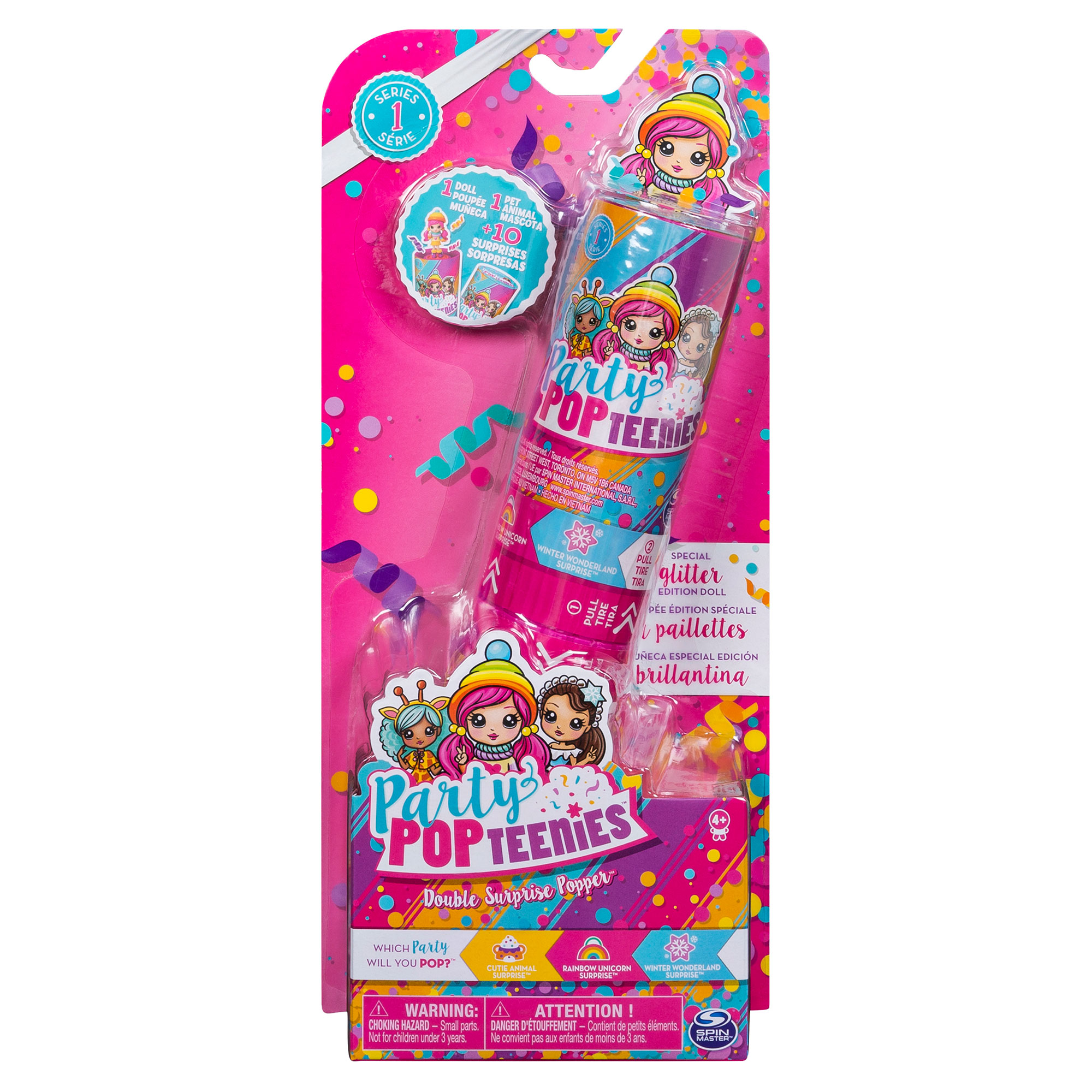 Party Pop Teenies Double Surprise Popper Assortment