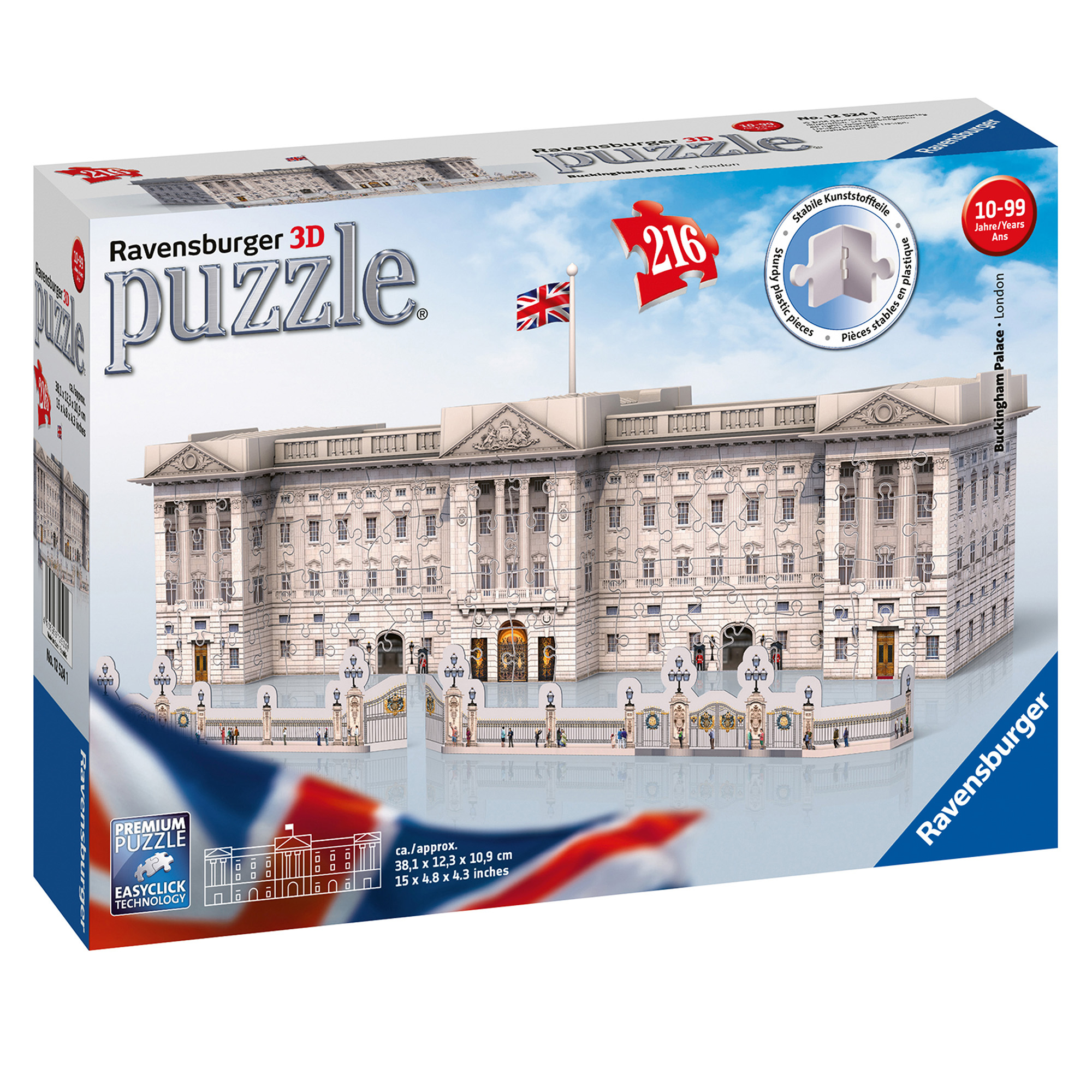 Ravensburger Buckingham Palace 216 Piece 3D Puzzle