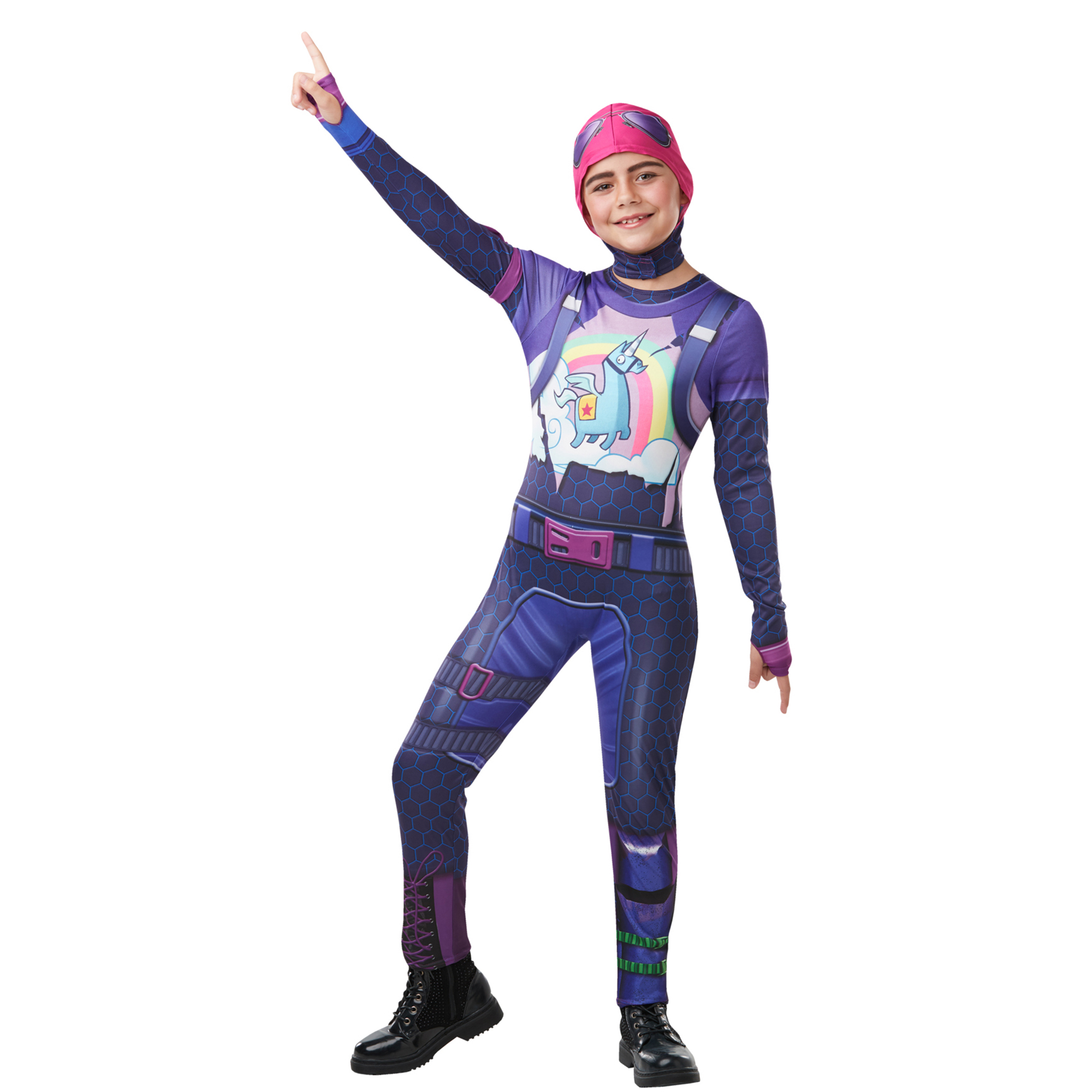 Fortnite Tween Brite Bomber Top and Snood Large