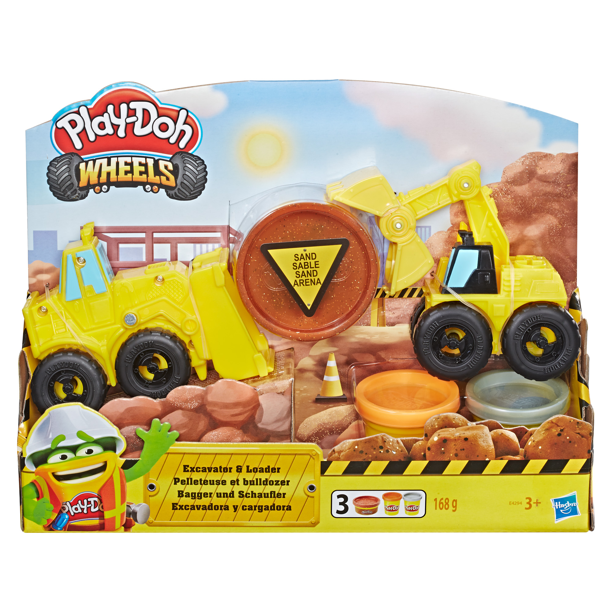 Play-Doh Wheels Gravel Yard Construction Toy Set