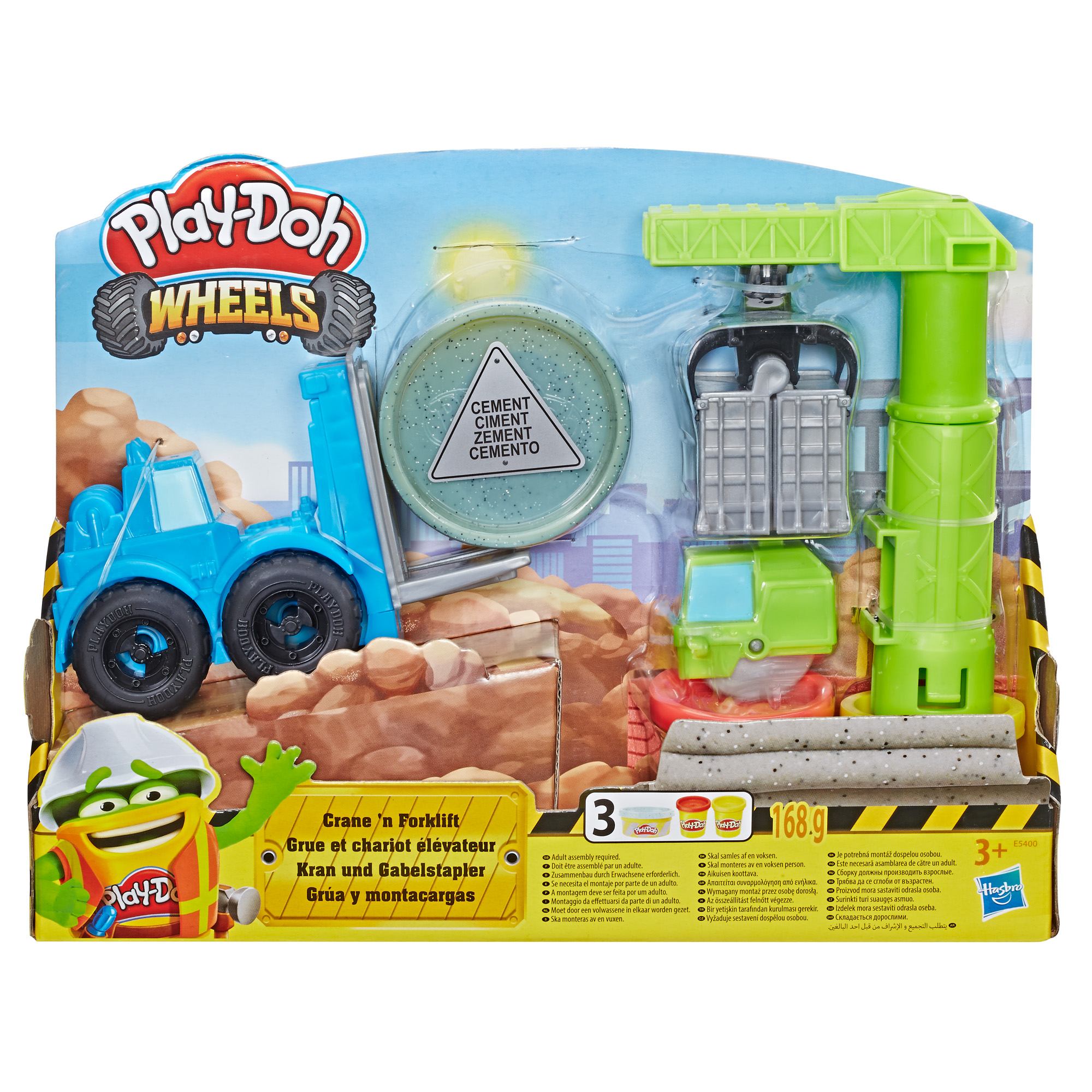 Play-Doh Wheels Crane & Forklift Construction Toyset