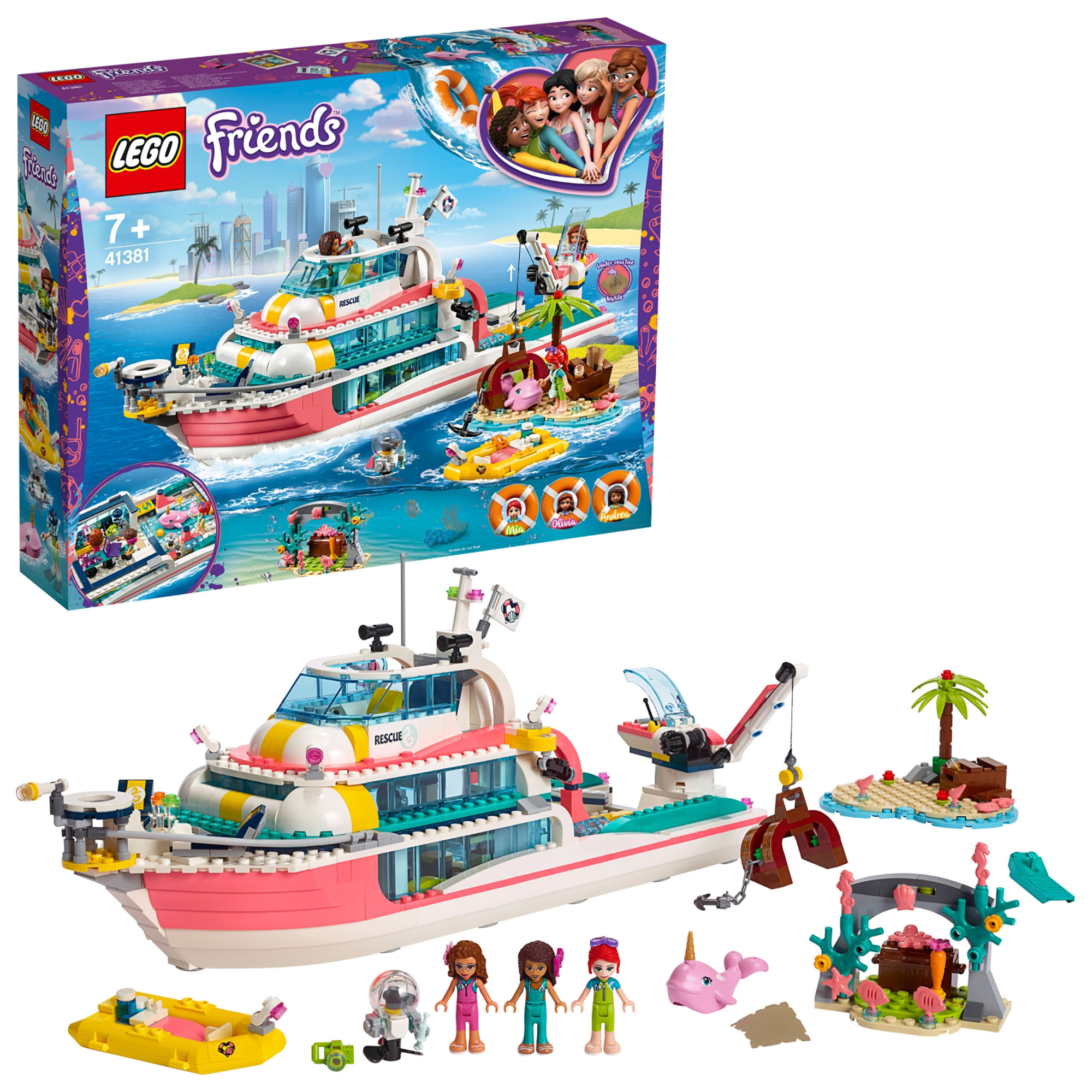 LEGO Friends Rescue Mission Boat