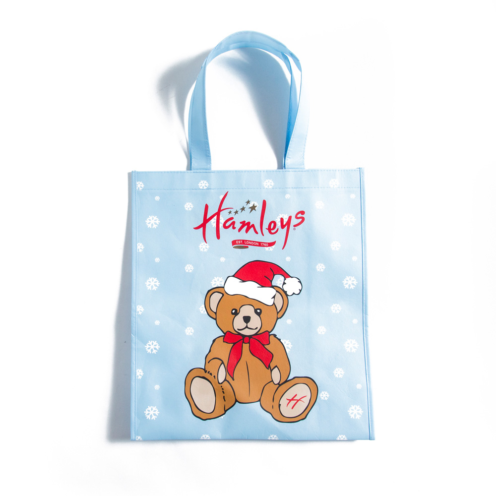 Hamleys Teddy Bear In Hat Small Shopper Bag