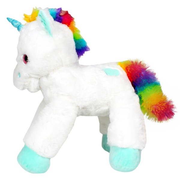 Lying Unicorn Plush - White - 53 cm