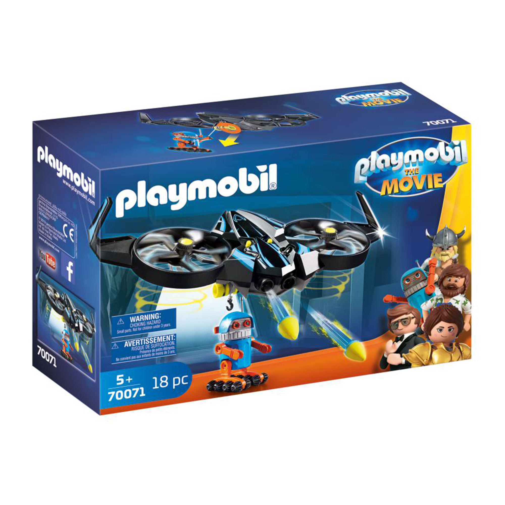 Playmobil 70071 Playmobil: THE MOVIE Robotitron with Drone