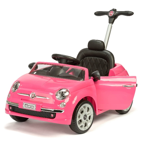 Fiat 500 Push/Ride On - Pink