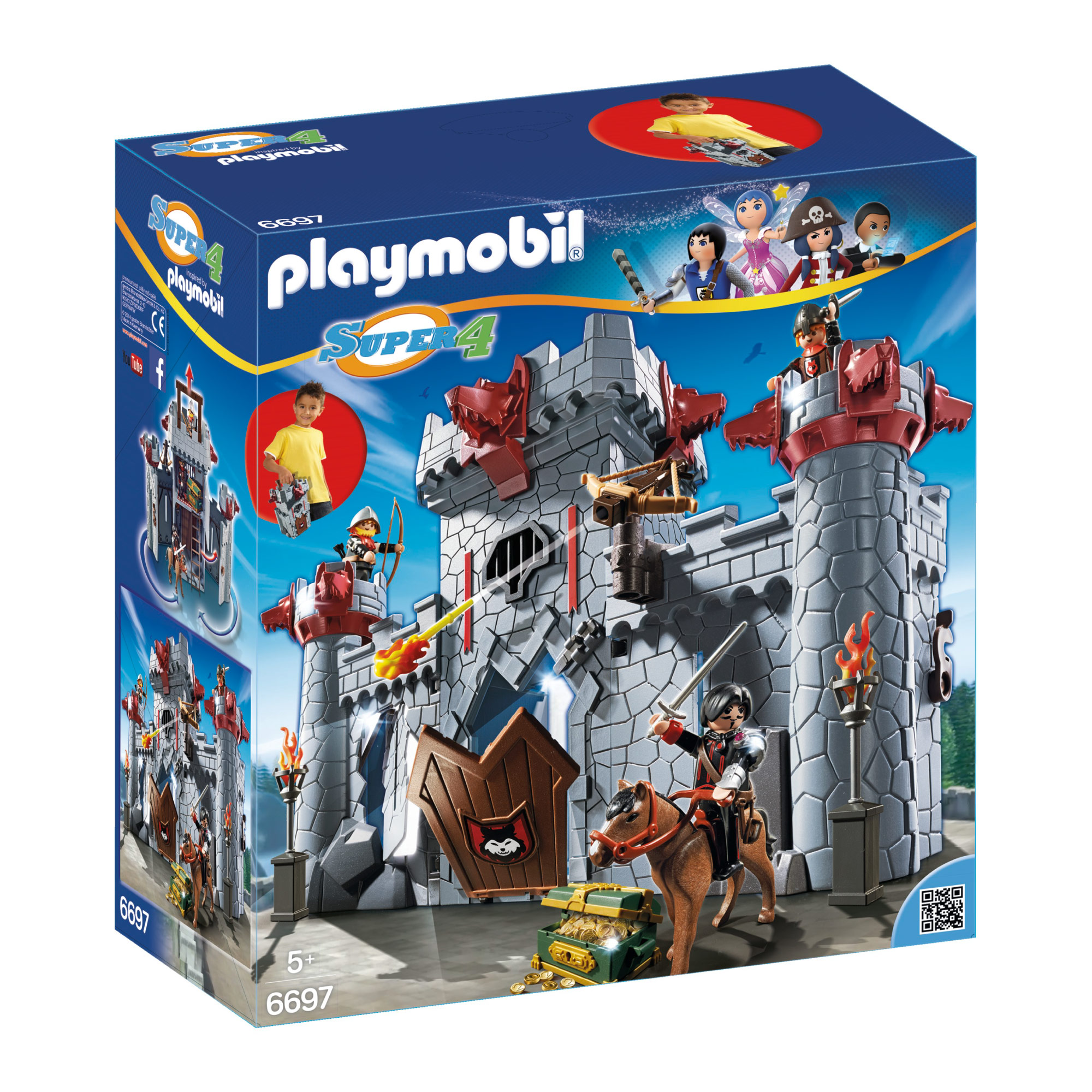 Playmobil Super 4 Take Along Black Baron's Castle 6697