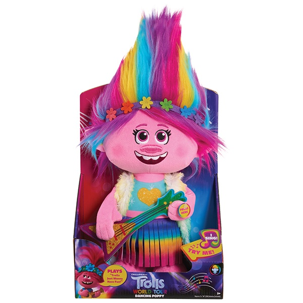 Trolls World Tour Dancing Feature Poppy Plush