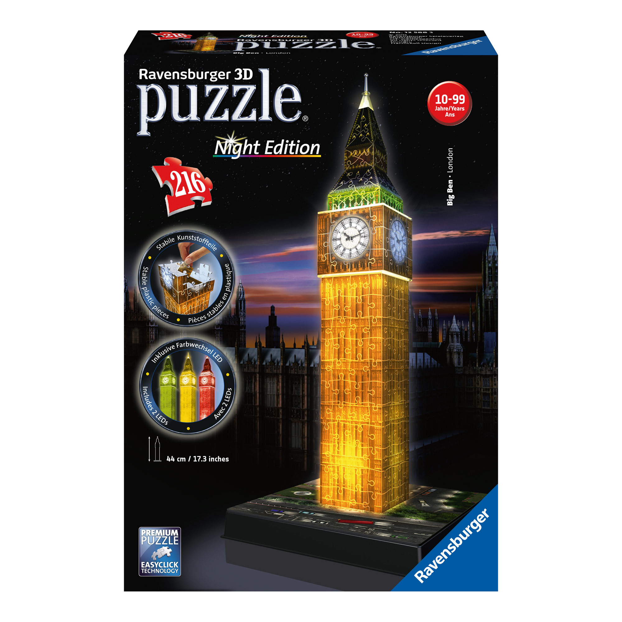 Ravensburger Big Ben Night Edition 216 Piece 3D Puzzle