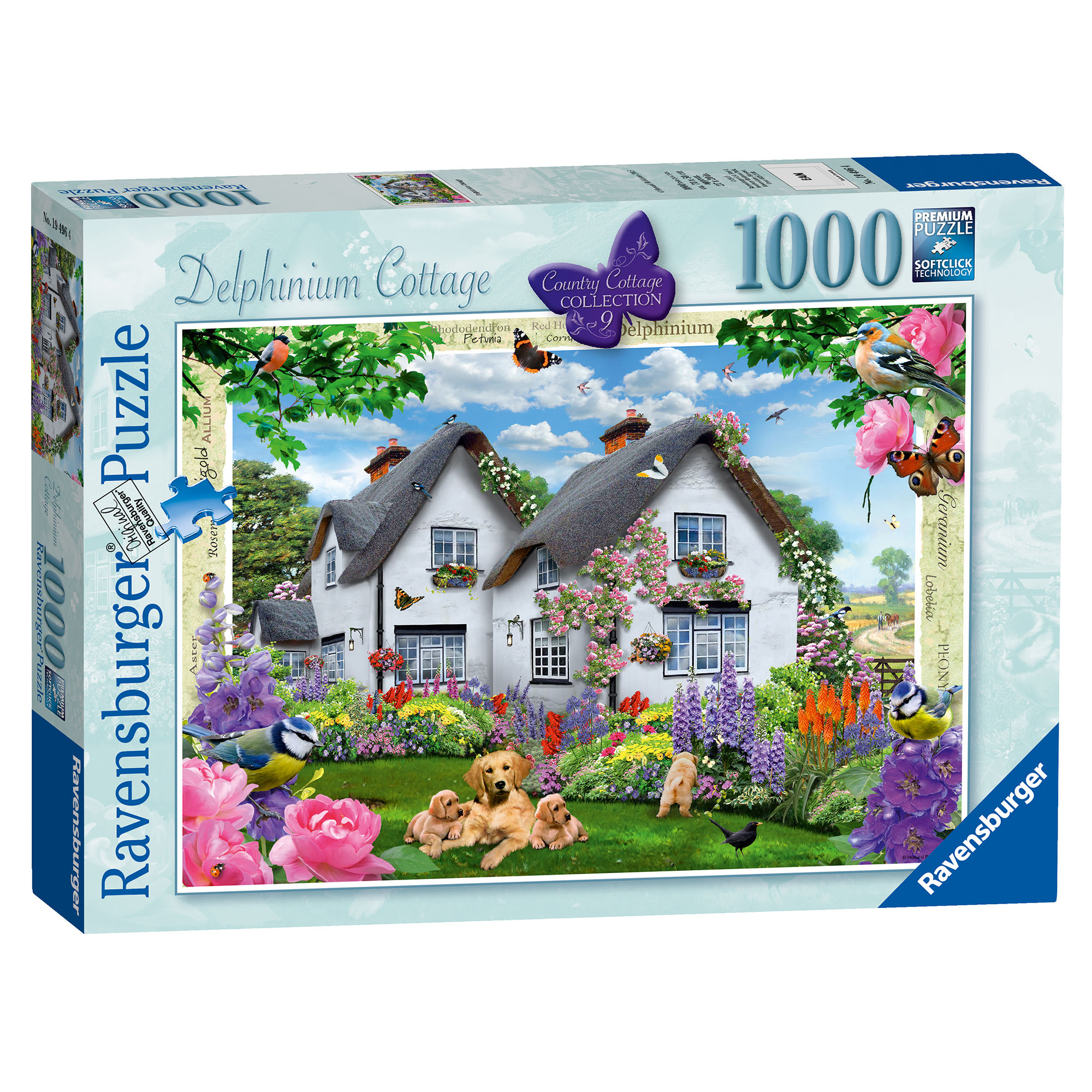 Ravensburger Country Cottage Delphinium Cottage 1000 Piece Puzzle
